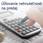 Účtovanie nehnuteľnosti na predaj
