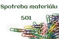 Účtovanie s účtom 501 – Spotreba materiálu